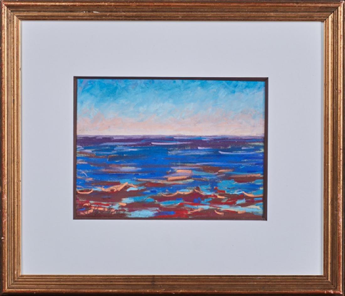 """Joachim Cassell (Spanish, New Orleans), """"Beach Scene,"""""""