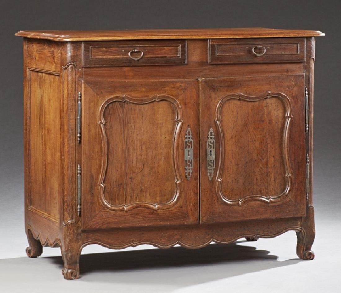 French Louis XV Style Carved Oak Commode, c. 1900, the