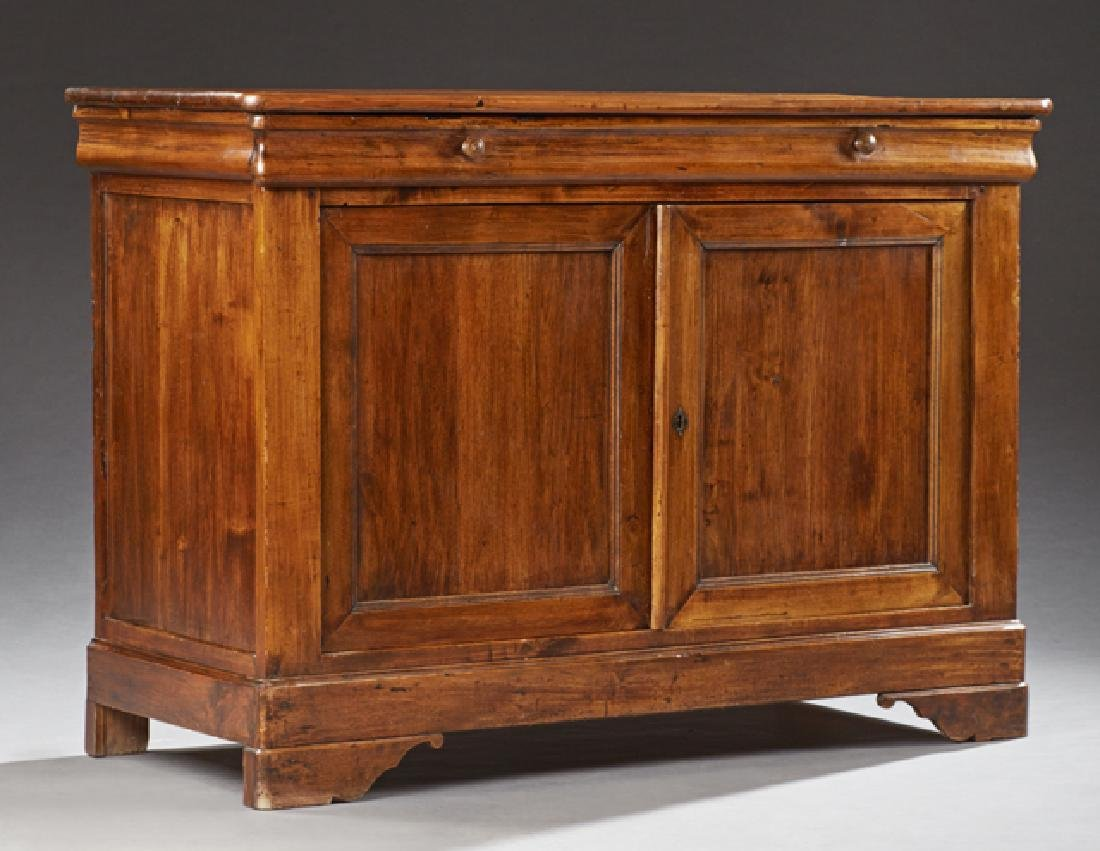 French Louise Philippe Style Carved Pine Sideboard,