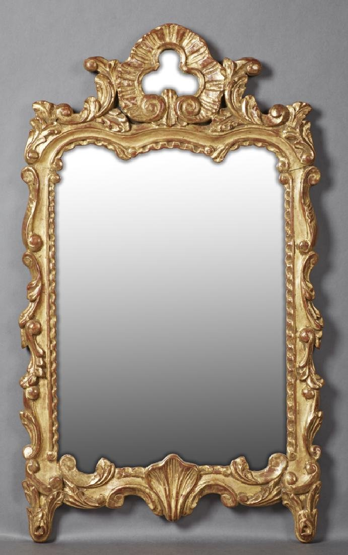 French Louis XV Style Gilt Pire Overmantle Mirror, 19th