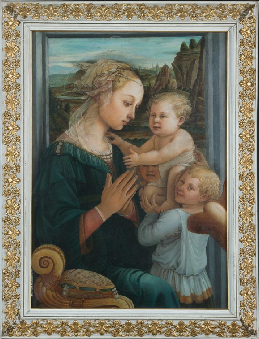 "After Filippo Lippi (1406-1469, Italian),"" Madonna and"