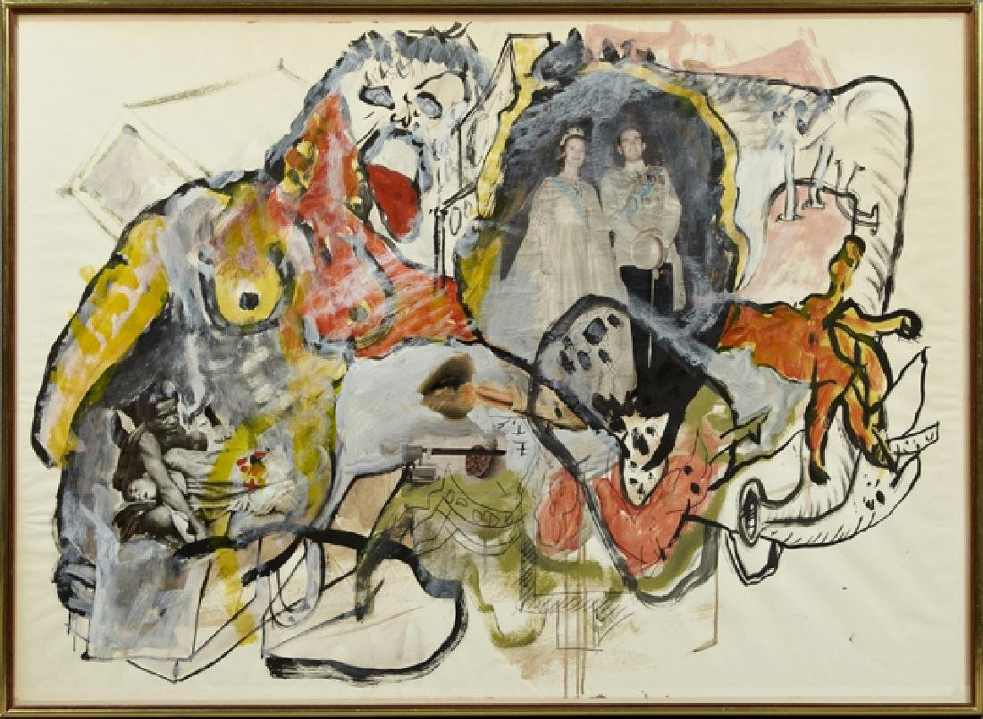 "Uri Lifchitz, (1936-2011, Israeli), ""Untitled,"" 1966,"