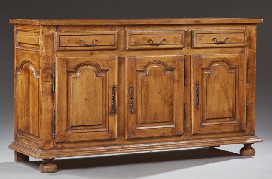 French Provincial Louis XVI Style Oak Sideboard, 20th
