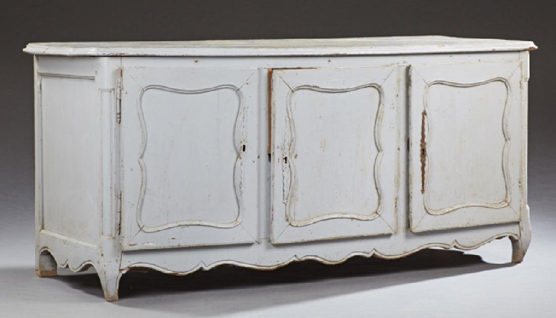 French Louis XV Style Polychromed Oak Sideboard, 19th