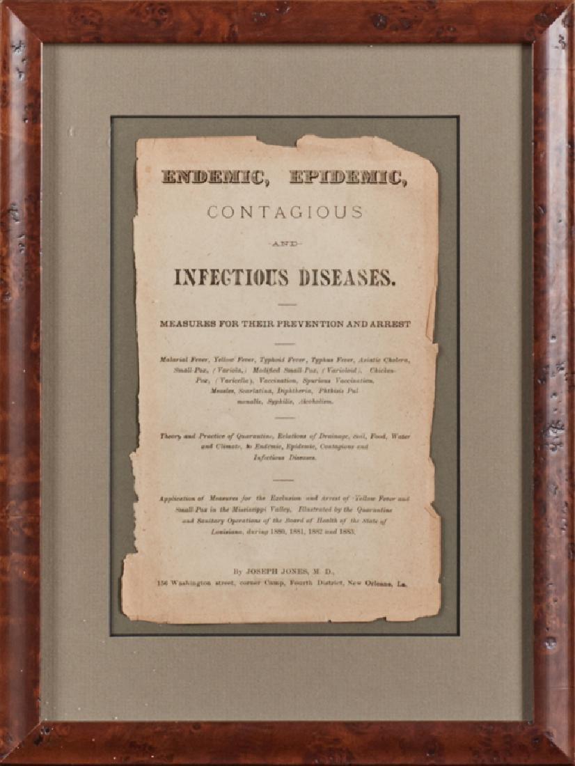 """Dr. Joseph Jones (1833-1896, New Orleans) """"Epidemic,"""