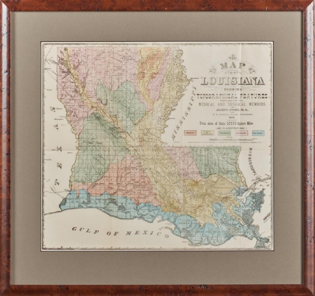 "T.S. Hardee, ""Map of Louisiana showing topographical"