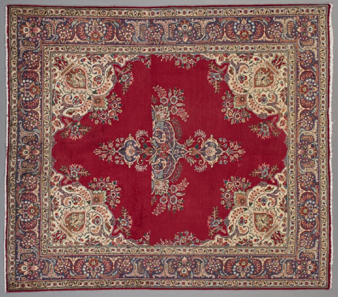 Tabriz Carpet, 6' 7 x 7' 7.