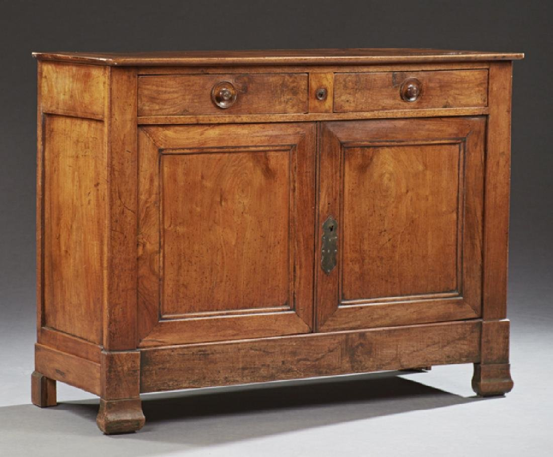 French Louis Philippe Style Carved Walnut Sideboard, c.