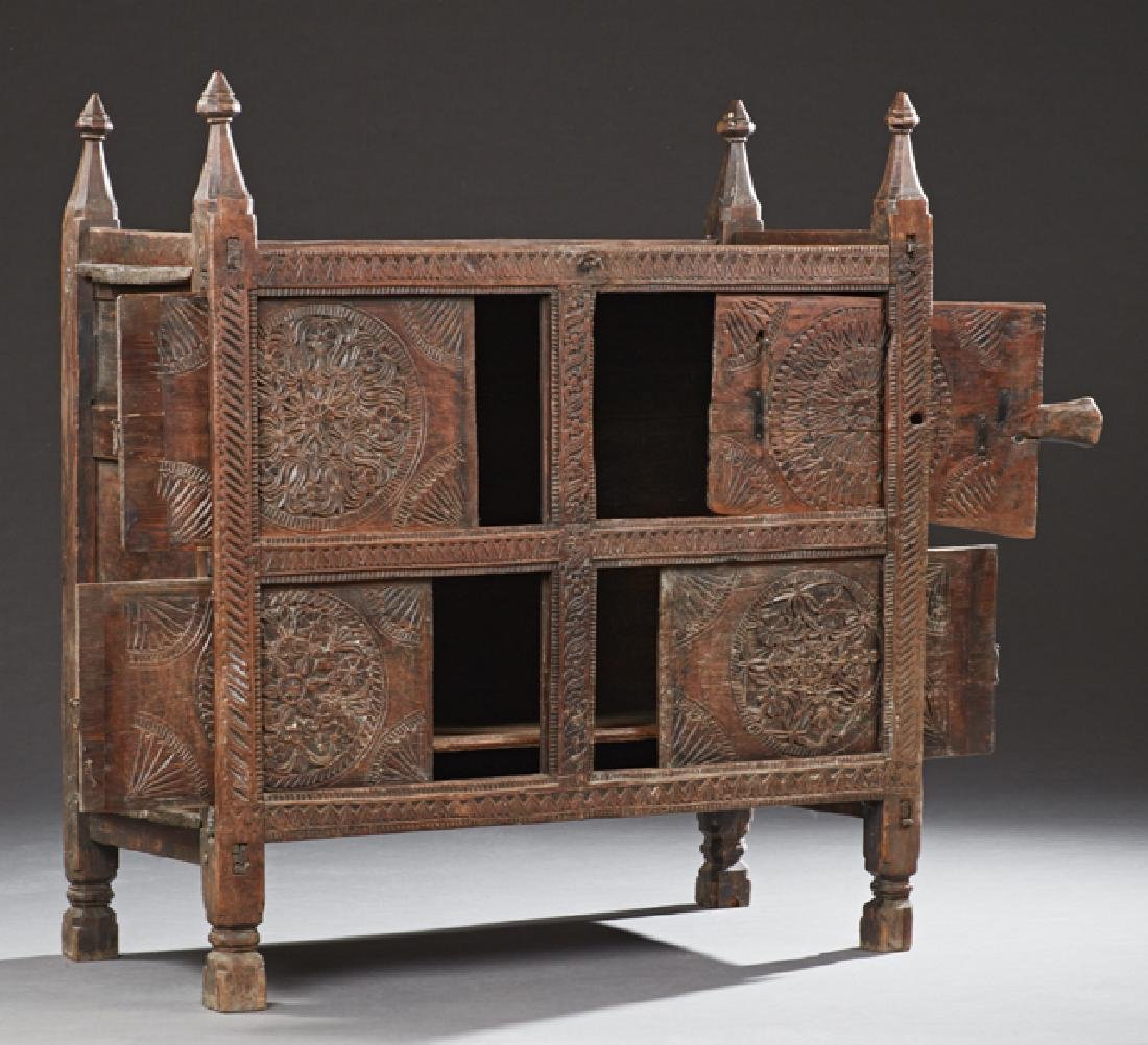 French Provincial Carved Oak Cupboard, c. 1880, - 2
