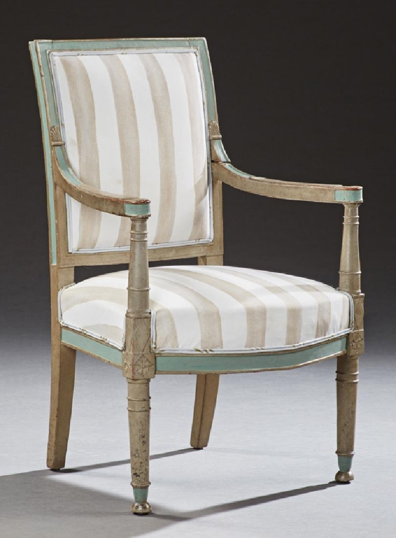 French Louis XVI Style Polychromed Dining Chair, 20th