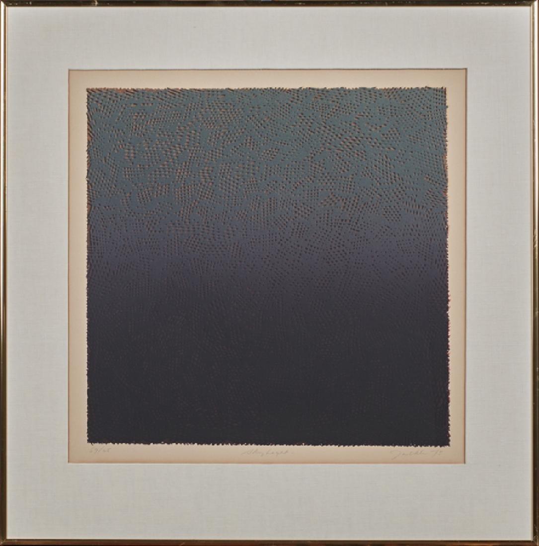 """Bill Jaklin (1943- , British), """"Night Light,"""" 1975, - 3"""