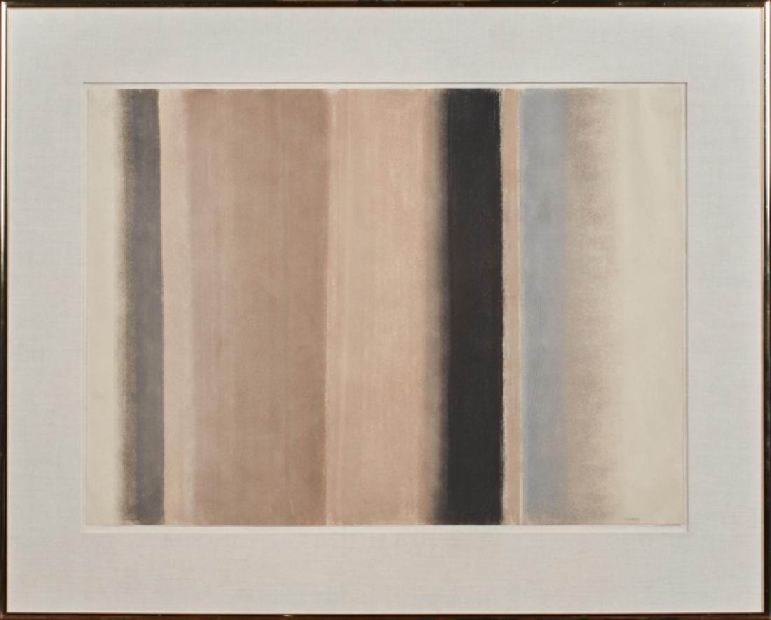 "Eleanore Lazarof (American), ""Encounter,"" 20th c., oil"