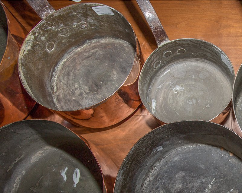 Group of Seven French Graduated Sauce Pans, late 19th - 6