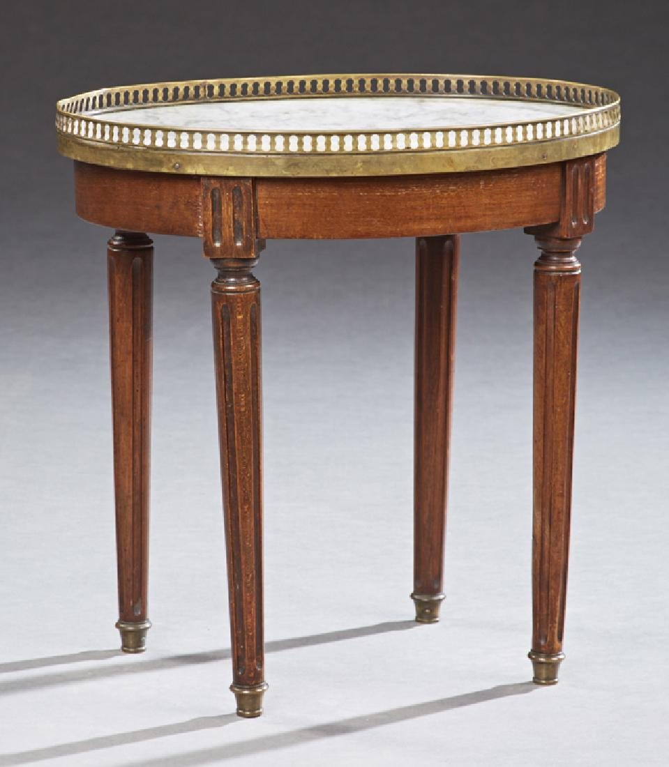 French Louis XVI Style Diminutive Circular Marble Top