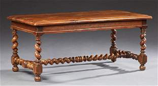 French Provincial Carved Cherry Coffee Table 20th c