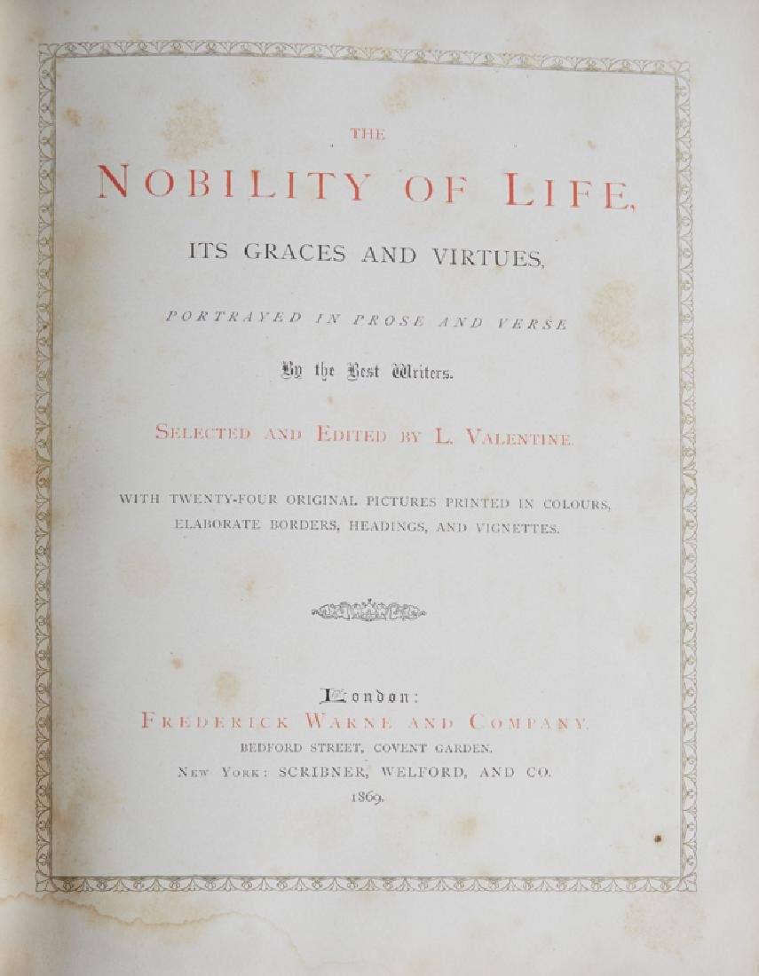 """Fore Edge Painting Book, """"The Nobility of Life, Its - 4"""