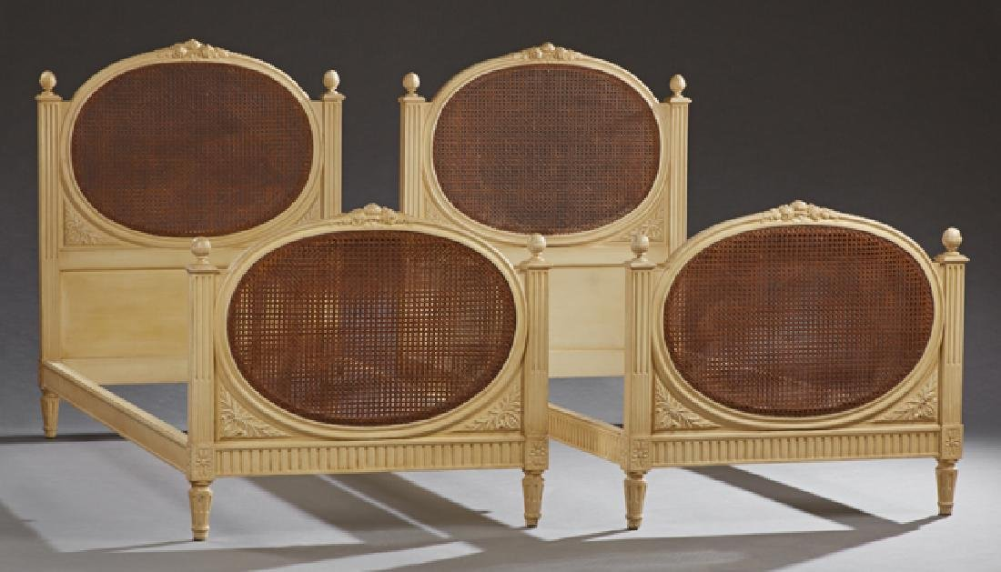 Pair of French Louis XVI Style Polychromed Beech Day