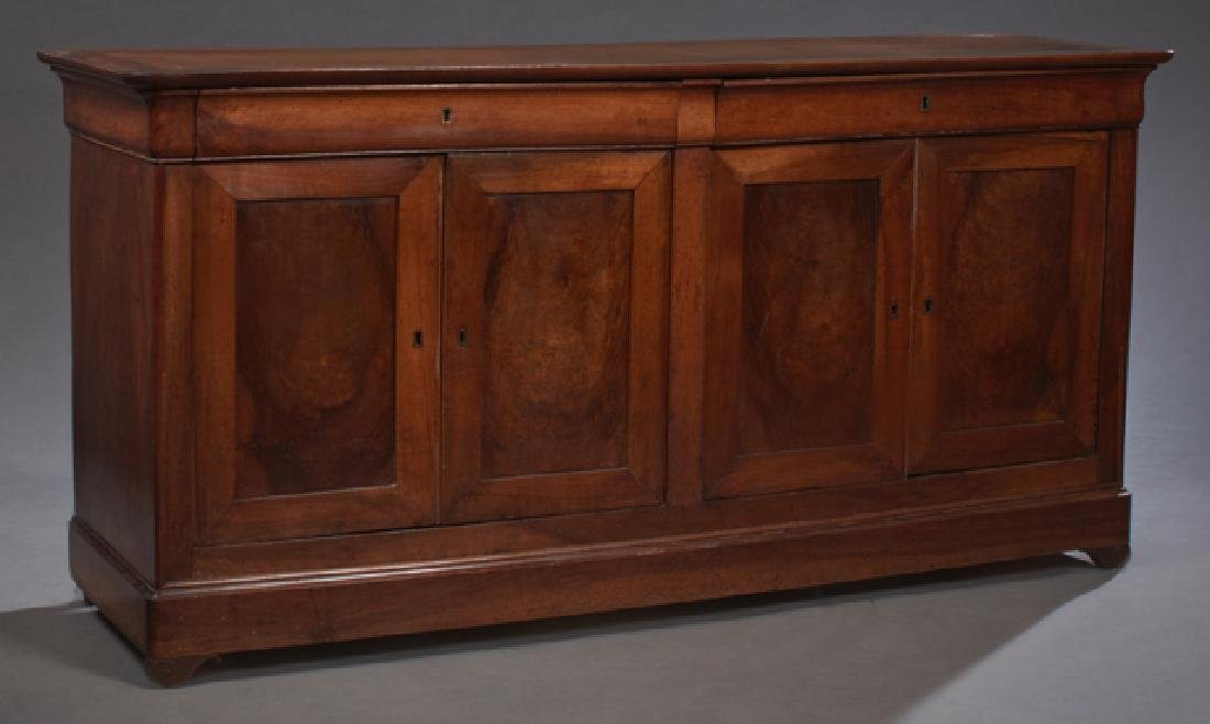 French Provincial Louis Philippe Style Carved Walnut