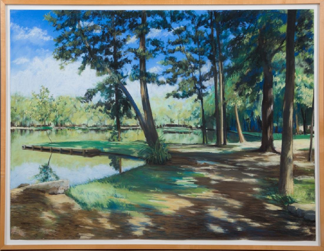 "Sheldon Tapeley (American), ""Trees and Lake,"" 20th c.,"