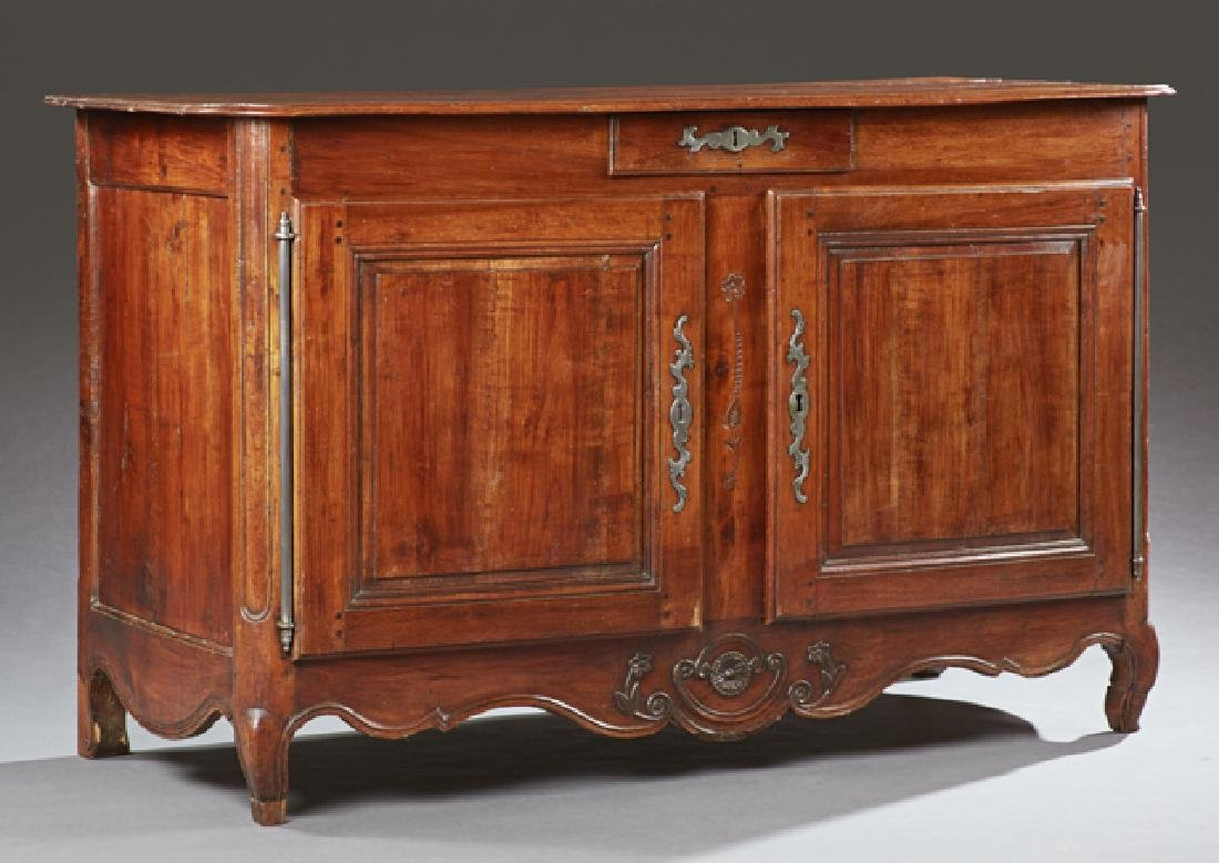 French Louis XV Style Carve Oak Sideboard, 19th c., the