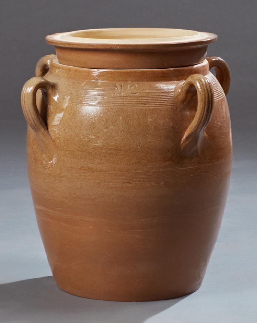 Large French Provincial Glazed Ceramic Oil Jar, 20th