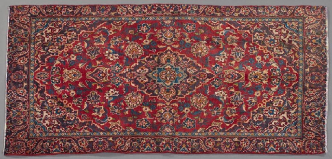 Kashan Carpet, 6' x 3'.