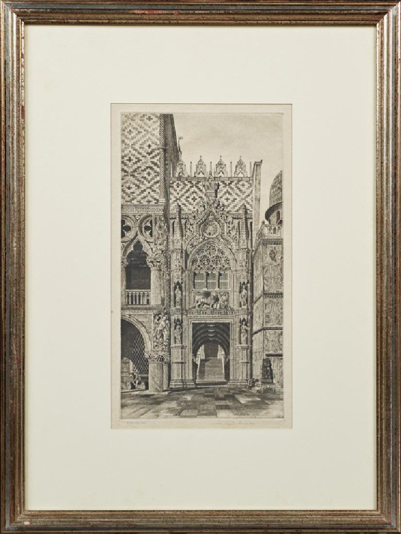 """John Taylor Arms (1887-1953, American), """"Facade of"""