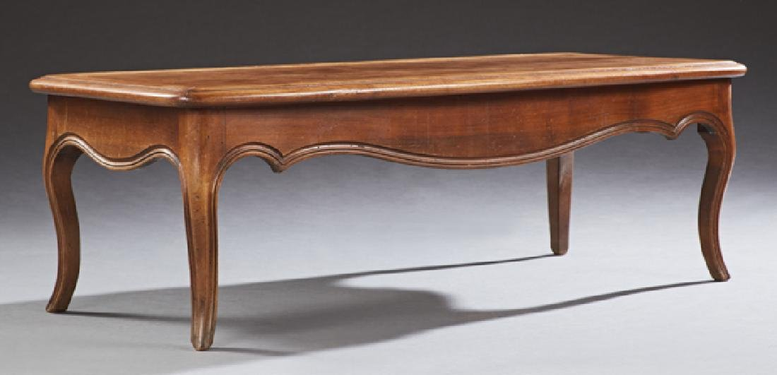 French Provincial Style Carved Walnut Coffee Table,
