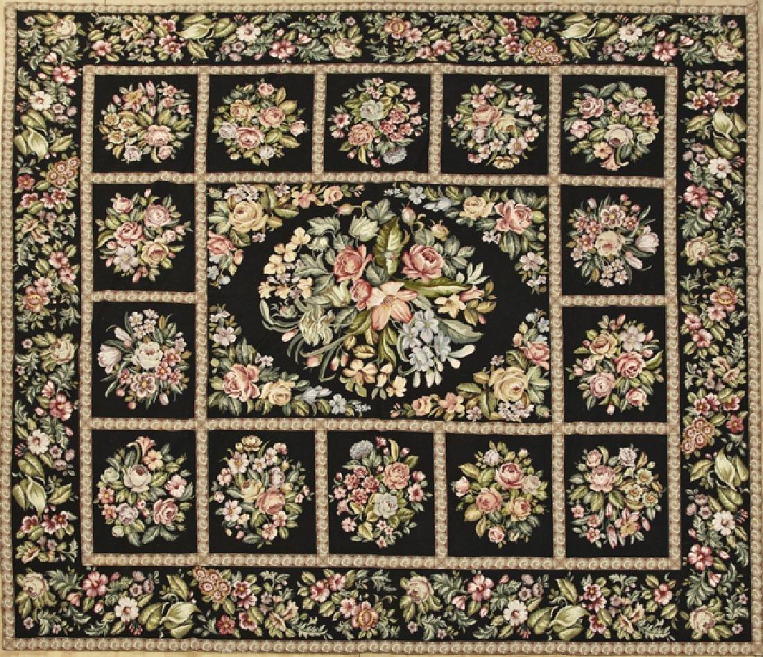 Needlepoint Carpet, 9' 11 x 10' 8.