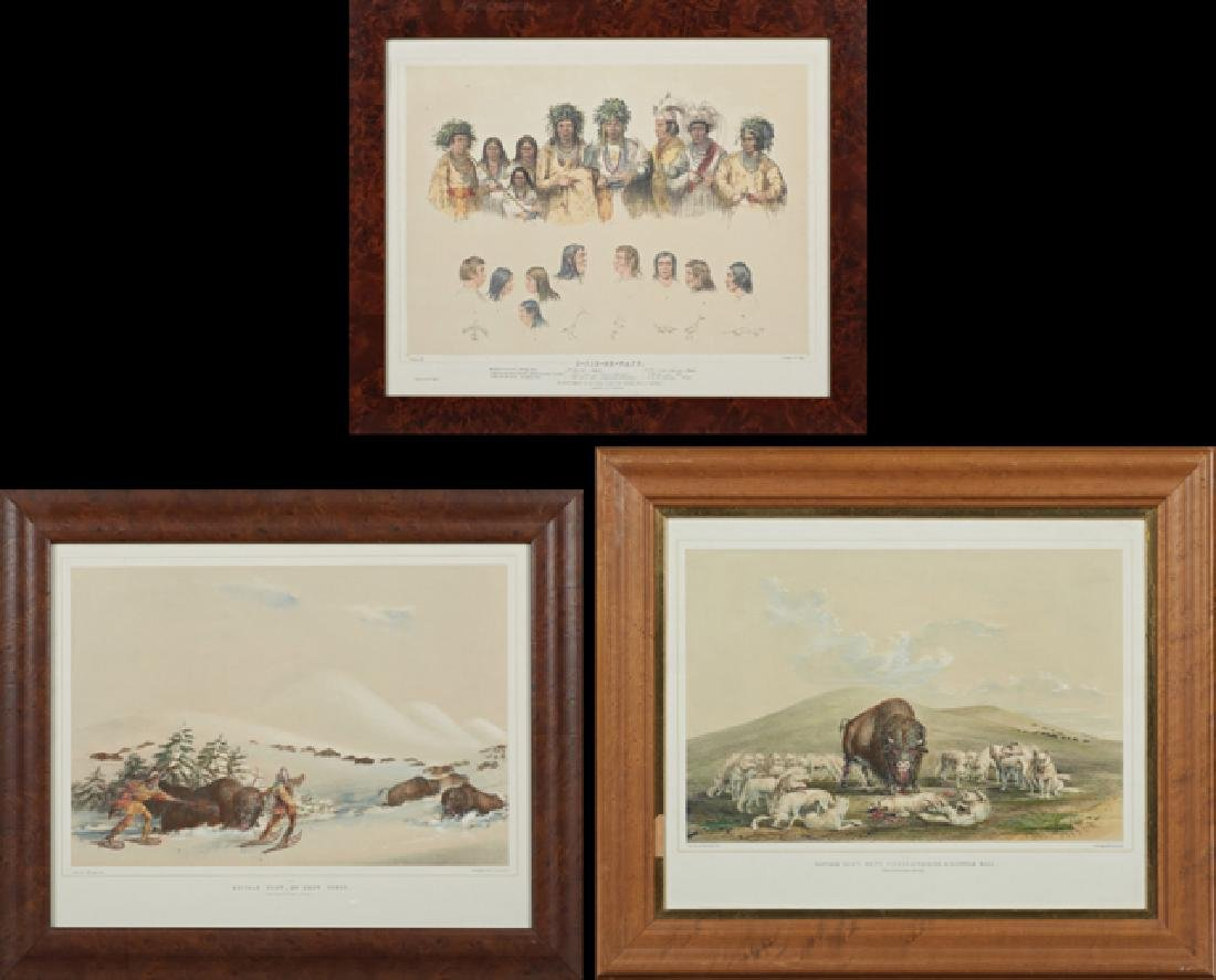"George Catlin (1796-1872), ""Buffalo Hunt On Snow"