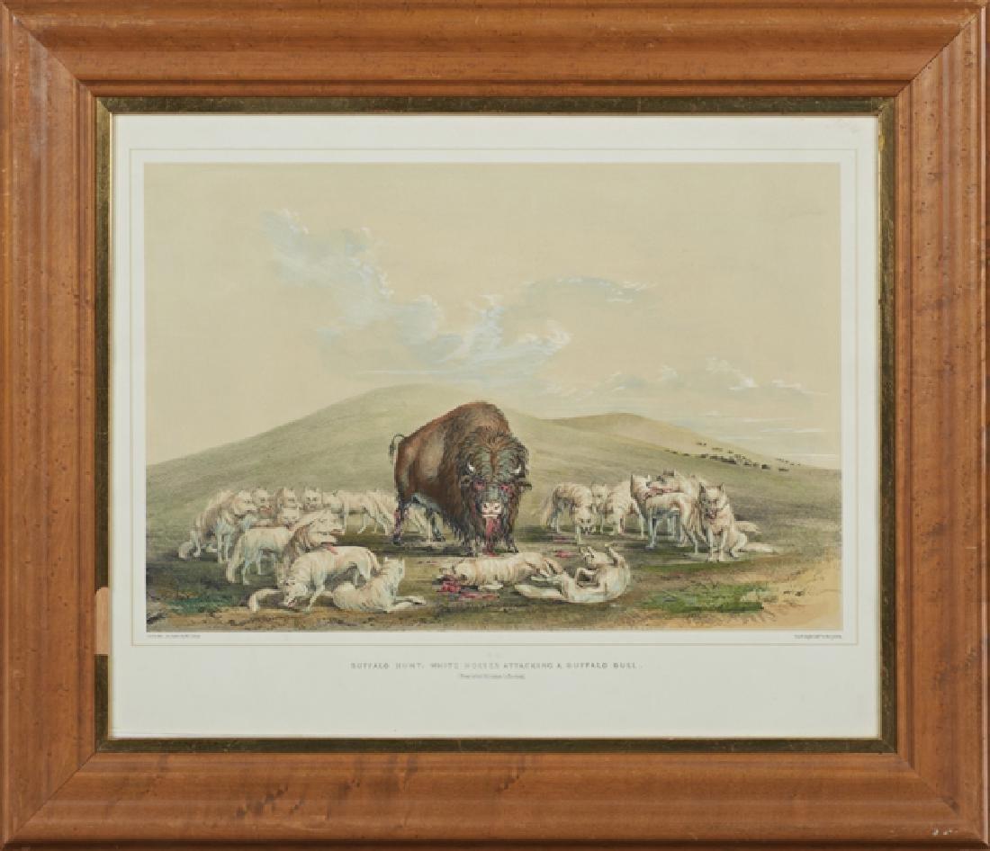 "George Catlin (1796-1872), ""Buffalo Hunt On Snow - 2"