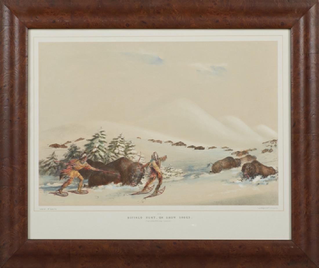"George Catlin (1796-1872), ""Buffalo Hunt On Snow - 4"