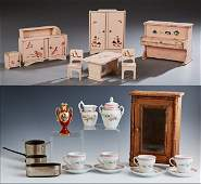 Group of Twenty-Two Pieces of Doll House Furnishings,