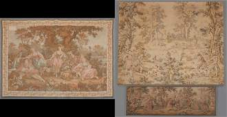 Group of Three French Tapestries, 20th c., one of