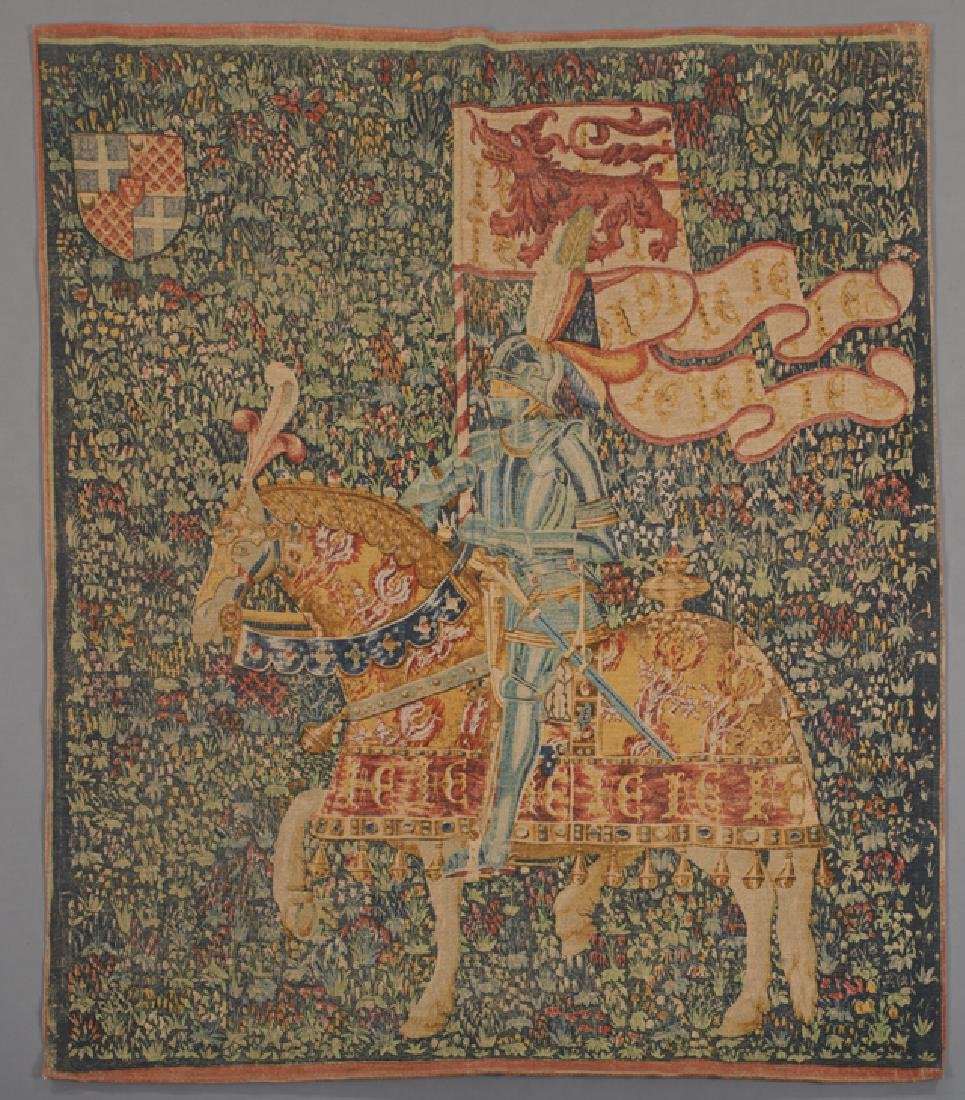 """Flemish Tapestry, """"Le Chevalier,"""" after the 16th c."""