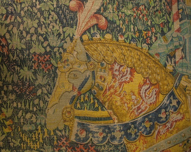 """Flemish Tapestry, """"Le Chevalier,"""" after the 16th c. - 2"""