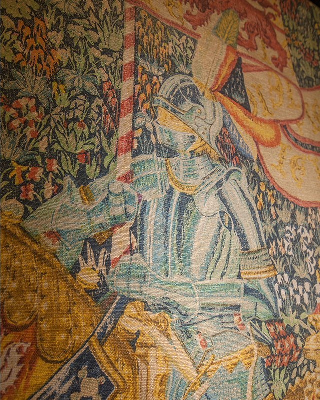 """Flemish Tapestry, """"Le Chevalier,"""" after the 16th c. - 8"""