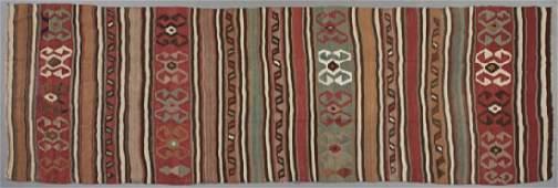 Antique Caucasian Kuba Kilim Carpet, 5' x 13' 8.
