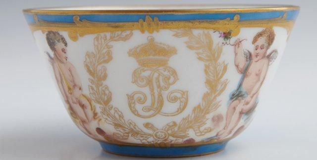 Group of Twenty-Five Sevres Style Porcelain Pieces, c. - 4
