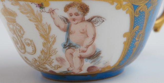 Group of Twenty-Five Sevres Style Porcelain Pieces, c. - 6