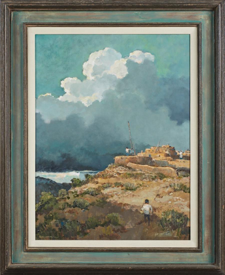 "Eric Sloane (1905-1985, Connecticut), ""New Mexico Sky"