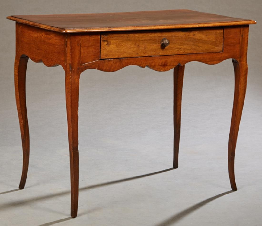 French Provincial Louis XVI Style Carved Cherry Side