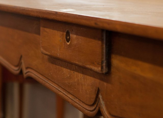 French Provincial Louis XV Style Carved Cherry Console - 6