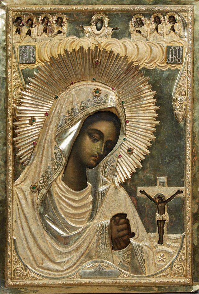 Russian Icon of the Virgin Akhtirskaya, Moscow,