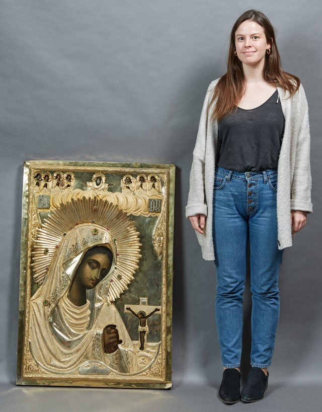 Russian Icon of the Virgin Akhtirskaya, Moscow, - 3