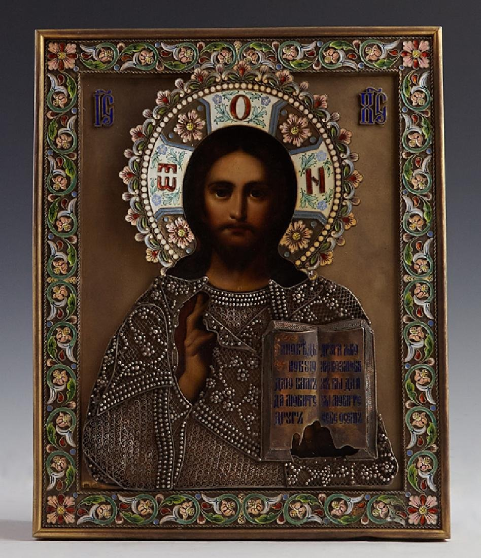 Russian Icon of the Christ Pantocrator, Moscow,
