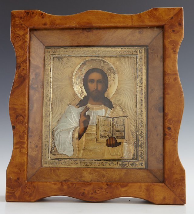 Russian Icon of Christ Pantocrator, Moscow, 1908-1917,