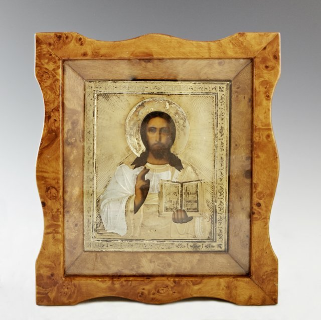 Russian Icon of Christ Pantocrator, Moscow, 1908-1917, - 2