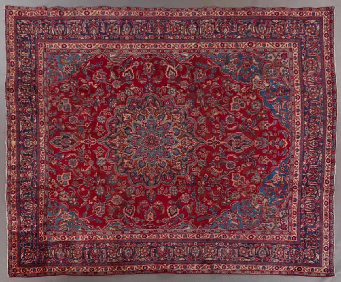 Mashad Carpet, 9' 6 x 11' 2.