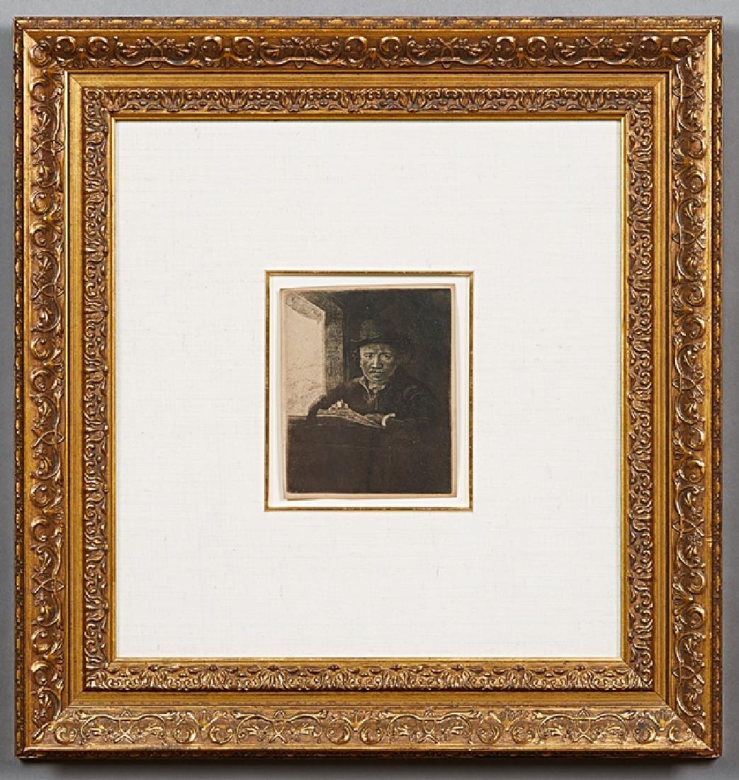 """After Rembrandt van Rijn (1606-1669, Dutch) """"At a"""